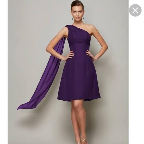 86c3ba03a33 David bridal dress size 2 cocktail dress one shoul